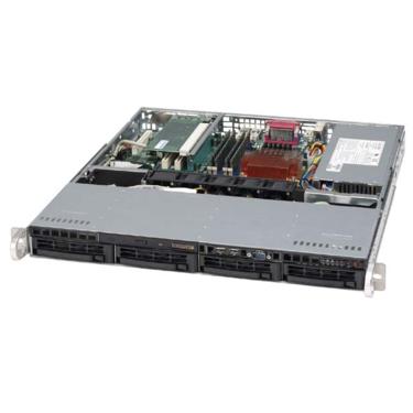 Supermicro CSE-813MS-300CB, 1U ATX, 4SCSI, slimCD, FD, 300W(24+4p), černá