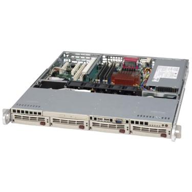 Supermicro CSE-813MS-410C, 1U ATX, 4SCSI, slimCD,FD, 410W 48V DC(24p), béžová