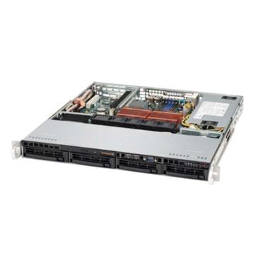 Supermicro CSE-813MTQ-520CB, 1U ATX, 4sATA/SAS, slimCD, FD, 520W, černÝ