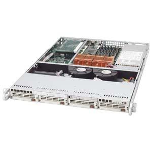 Supermicro CSE-815TQ-700V, 1U propriet.4sATA/SAS, slimCD, FD, 700W, stříbrný