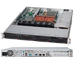 "Supermicro CSE-815TQ-710UB, 1U, 4x 3,5"" SATA/SAS, 710W, černý"