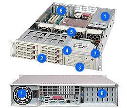 """Supermicro CSE-823T-550LP, 6x 3,5"""" SAS/SATA, 1x 5,25"""", 550 W, béžová"""