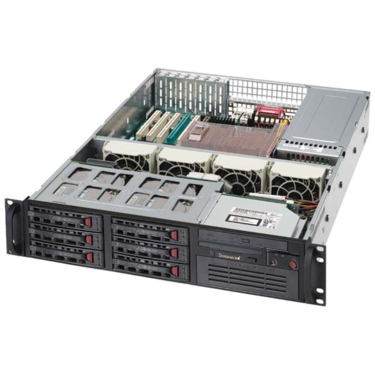 Supermicro CSE-823TQ-R500LPB, 2U, eATX, 6sATA/SAS, LP, rPS 500W, černé