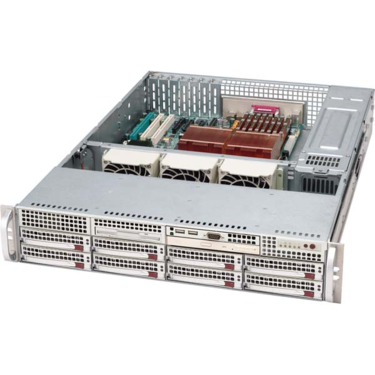 Supermicro CSE-825S2-R700LPV, 2U, eATX13, 8SCSI 2ch.,slimCD, 700W, stříbrný