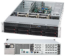 Supermicro CSE-825TQ-560UB, 2U, chassis 8x HS SAS/SATA,UIO, 560W