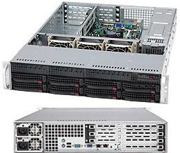 Supermicro CSE-825TQ-R700UB, 2U, chassis 8x HS SAS/SATA, 2x700W UIO