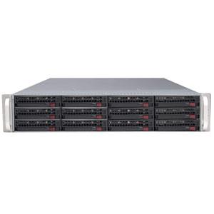 Supermicro CSE-826E2-R800UB, 2U, UIO, 12sATA/SAS, 2x28port, noCD, černé