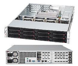Supermicro CSE-826TQ-R800UB, 2U, UIO, 12 SATA/SAS, noCD, rPS, černé