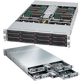 Supermicro CSE-827H-R1400B, 2U, chassis Twin2 4x (3x SAS/SATA) HDD, 2x1400W