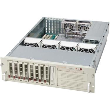 "Supermicro CSE-833S-R760, 3U eATX13, 8SCSI, 2x5,25"", slimCD, rPS 760W"