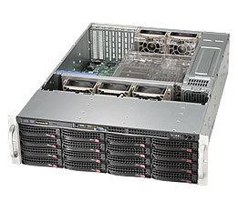 Supermicro CSE-836BA-R1K28B, 3U skříň, 2x1280W zdroj 80+ Platinum, černá