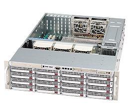 Supermicro CSE-836S2-R800B, 3U eATX13, 16SCSI, 2ch, slimCD, 800W, černý