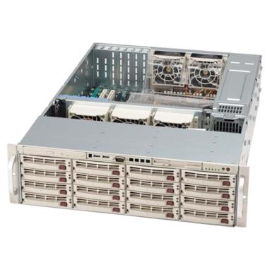Supermicro CSE-836TQ-R800 3U eATX13,16s ATA/SAS, slimCD, 800W, black