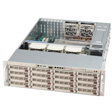 Supermicro CSE-836TQ-R800 3U eATX13,16s ATA/SAS, slimCD, 800W, černý