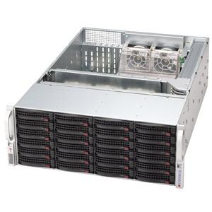 Supermicro CSE-846E1-R900 4U eATX, sATA/SAS, SlimCD, rPS 900W, černé