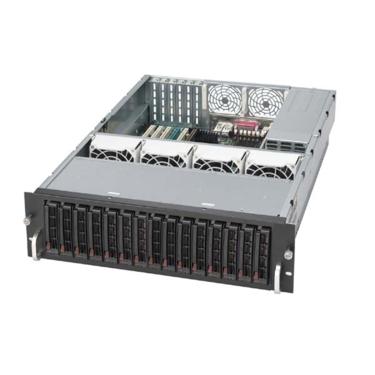 Supermicro CSE-936E1-R900, 3U, eATX, 16sATA/SAS, noCD, rPS 900W, black