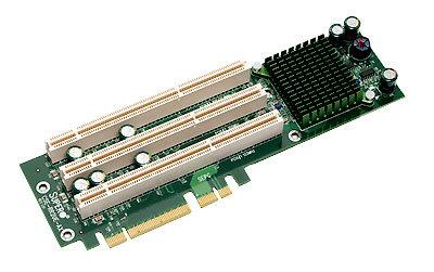 Supermicro CSE-RR2UE-AX, active 2U riser PCI-E to 3xPCI-X