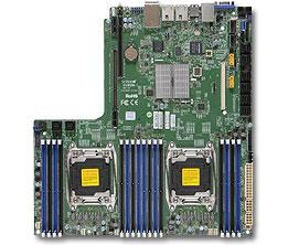 SUPERMICRO MB 2xLGA2011-3, iC612 16x DDR4 ECC,10xSATA3/4xNVMe,(PCI-E 3.0/1,1(Lx24,Px8,AOMx8),2x LAN,IPMI