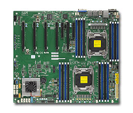 SUPERMICRO MB 2xLGA2011-3, iC612 16x DDR4 ECC,10xSATA3,(PCI-E 3.0/4,2,1(x16,x8,x4),2x LAN,IPMI