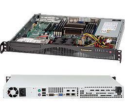 """SUPERMICRO mini1U chassis, 2x 3,5"""" fixed HDD (nebo s MCP-220-00044-0N 2x2,5""""), 440W (Platinum)"""