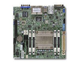 SUPERMICRO miniITX MB Atom C2758 8-core (20W TDP), 4x DDR3 ECC SODIMM, 2xSATA3, 4xSATA2,1xPCI-E x8, 4xLAN, IPMI