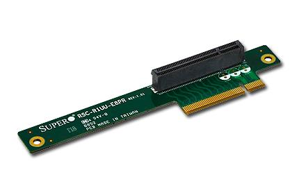 Supermicro RSC-R1UU-E8PR, 1 x PCI-E 8x and Proprietary slot