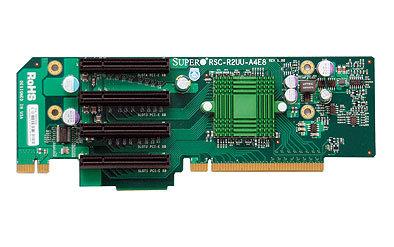 Supermicro RSC-R2UU-A4E8, active 2U riser 4xPCI-E x8 UIO riser