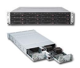 Supermicro SYS-6026TT-HDTRF, 2U TWIN server 2x1366, i5500, DDR3 ER,2x1400W