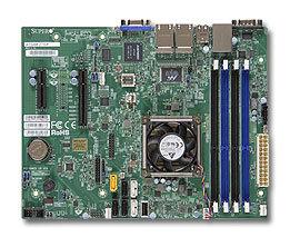 SUPERMICRO uATX MB Atom C2750 8-core (20W TDP), 4x DDR3, 2xSATA3, 4xSATA2, (1,1PCI-E x8,x4), 4xLAN, IPMI
