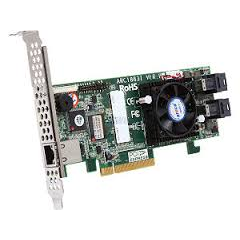 Areca ARC-1883i 8x port (SFF-8643) 12Gb/s SAS RAID, 2GB DDR3, PCIe x8 Card, LP