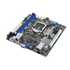 ASUS P11C-I, 1151, Intel® Xeon® E-21XXX (95W), C242, 4DIMM, 2 Intel i210AT+1Mgt LAN, 6 SATA, 1 M.2, mini-ITX
