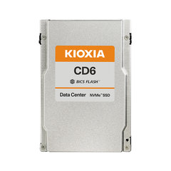 "Kioxia CD6 6.4TB NVMePCIe4x4 2.5""15mm SIE 3DWPD - KCD6XVUL6T40"
