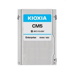 "Kioxia CM5 3.84TB NVMePCIe3x4 2x2BiCS3 2.5""15mmSIE1DWPD - KCM5XRUG3T84"