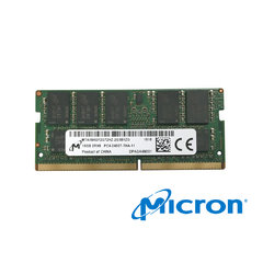 Micron Memory 16GB DDR4-2400 2RX8 ECC SODIMM - MEM-DR416L-CL02-ES24, MTA18ASF2G72HZ-2G3B1