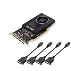 NVIDIA PNY Quadro P2000 5GB GDDR5 PCIe 3.0 - Active Cooling - GPU-NVQP2000-EU