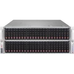 SC417BE2C-R1K23JBOD 4U JBOD 72SFF SAS3 (dual SAS3 exp.), rPS 1,2W (80+ TITANIUM), 8×8644, IPMI