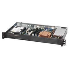 """SC502-200B mini1U 9,6""""x9,6"""" 35Wcpu,1HDD,200W(80+),no-fan,černé"""