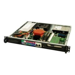 "SC513L-410 mini1U ATX,2sATA 2,5"",410W 48V DC(24p),front I/O,black"