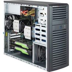 "SC732D3-903B miditower eATX,4×3,5"",2×5,25"",2×USB3,audio,120W(<21dB,80+PLATINUM)black"
