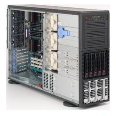 """SC748TQ-R1400 4U/tower 4P 5sATA/SAS , 3x5,25"""", rPS 1400W, black"""