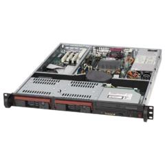 SC811TQ-280 1U ATX, 2sATA/SAS,slimCD,FD, 280W(24p), black