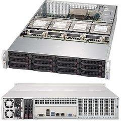 SC829HE1C4-R1K62LPB 2U eATX13, 4NVMe,12sATA/SAS3,2SFF,LP,rPS 1600W (80+ TITANIUM),černé