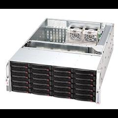 SC846A-R1200 4U eATX13 24sATA/SAS (6xSFF-8087), RearSlimCD, rPS 1200W (80+), black