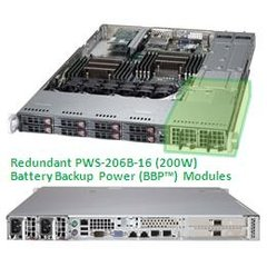 "SUPERMICRO 1U chassis 8x 2,5"" HS SAS/SATA, 2x700W (80PLUS Gold), WIO, (možnost Battery Backup Power)"