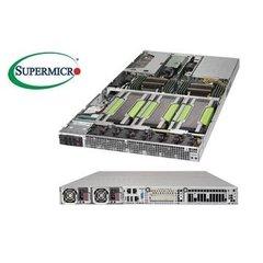"""SUPERMICRO 1U GPU server 2x LGA2011-3, iC612 , 16x DDR4 ECC R,2x SATA3 HS (2,5""""), 2x2000W, 2x1GbE, IPMI, 4xGPU/MIC opti"""