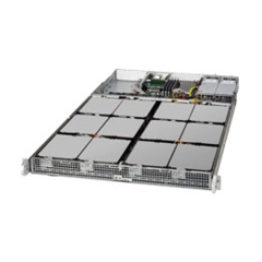 "SUPERMICRO 1U SuperStorage Server 1xAtom C2750 (8-core), 4xDIMM DDR3 ECC.,12x Fix 3,5"" LSI 2116 SW controller, 2x400W"