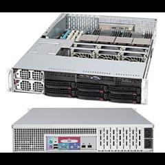 "SUPERMICRO 2U chassis 6x 3,5"" HS SAS/SATA, 2x 1400W (80PLUS Platinum) (pro MB X9QRI)"
