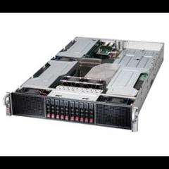 "Supermicro 2U GPU server 2x LGA2011-3, iC612 , 16x DDR4 ECC R, 10x SATA HS (2,5""), 2x2000W,2x1GbE, I"