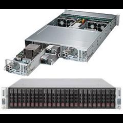 SUPERMICRO 2U TWIN server 2x(2x LGA2011-3),iC602, 2x(16x DDR4 ECC R), 2x(8x SAS3 LSI3108 + 4x SATA3),2x 1280W,2x(2x10GbE), IPMI
