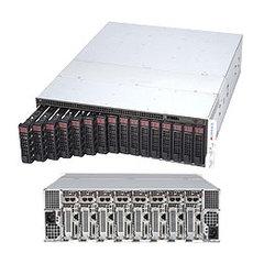 """SUPERMICRO 3U MicroCloud server 8xNOD (LGA1151,iC236,4xDDR4 ECC,2x SATA3) 2xHS(SATA3),3,5""""k NOD, 2x1600W(Titanium), IPMI"""